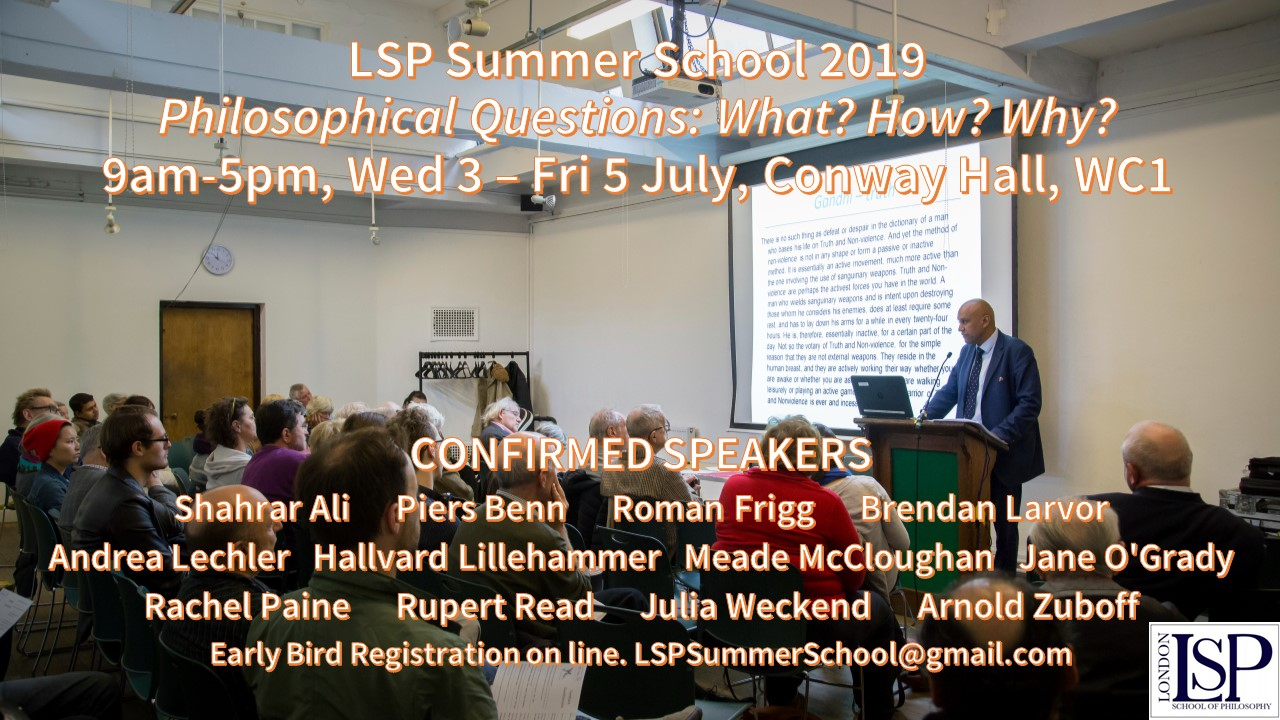 Summer School 2019: What? How? Why? | London School of Philosophy